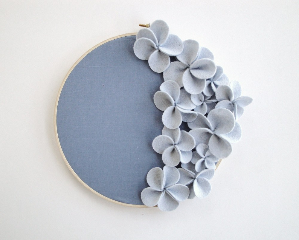 Felt Flowers Wall Decor : Felt heartfish