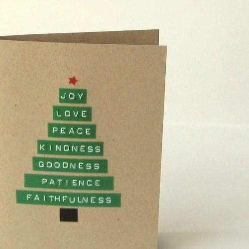 Christmas Tree Cards Ideas.Merry Christmas Tree Card Heartfish Blog